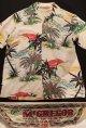 "1950's "" McGREGOR "" ハワイアンシャツ(ホワイト × palm tree オーバーオールパターン)"