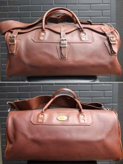 画像1: 1970's GOKEYS(ゴーキー) ALL LEATHER BOSTON BAG (small)
