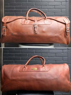 画像1: 1970's GOKEYS(ゴーキー) ALL LEATHER BOSTON BAG (large)