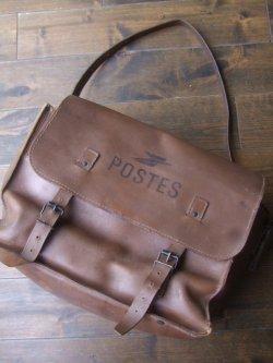 """画像1: 1960〜1970's  """" LA POSTE """" ( フランス) Mail Bag ( メールバッグ ) レザー"""