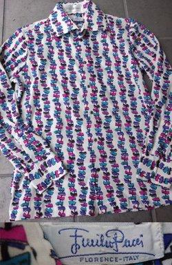 画像1: 1970's エミリオプッチ (Emilio Pucci) メンズ ドレスシャツ ホワイト(3)