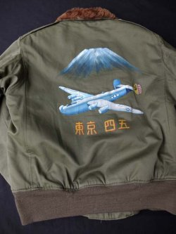 "画像1:  1944's USAAF "" DANN CLOTHING CO. "" "" コントラクトナンバー (30-053) A.C.971 "" B-10 フライトJK ( WITH SPECIAL PAINT )"