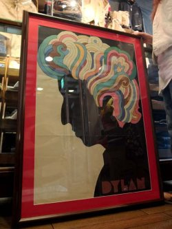 """画像1: """" MILTON GLASER ( ミルトン グレイサー ) """" """" BOB DYLAN ( ボブ ディラン ) / 1967 """""""