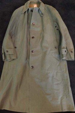 """画像1: 1950's FRENCH MILITARY / RUBBER CLOTH """" SOUTIEN COLLER """" COAT"""
