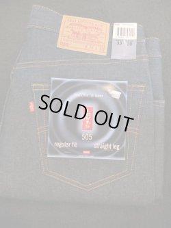 画像1: 1990's〜 DEAD STOCK フラッシャー付き 『 Made in USA 505 / red tab 』 LEVI'S (リーバイス) / W34×29