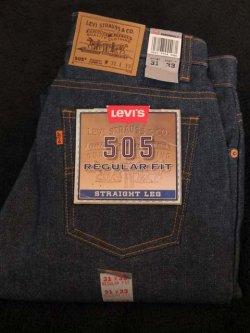 画像1: 1990's〜 DEAD STOCK フラッシャー付き 『 Made in USA 505 / org tab 』 LEVI'S (リーバイス) / W31×33