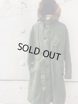 画像1: 1960's〜 DEAD STOCK / ROYAL AIRFORCE(RAF) HEAVY WEATHER COAT(VENTILE) グランドクルー(GRN)
