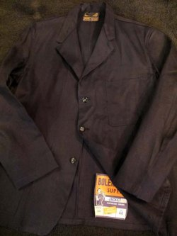 画像1: 1960's DEAD STOCK BRITISH / D,NAVY LAPELED WORK JACKET