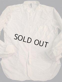 """画像1: """" GOUCHA ( ゴーチャ ) """" クラッシック オックスフォード ノーカラーシャツ """" MAYER """" WHITE ( XL )"""