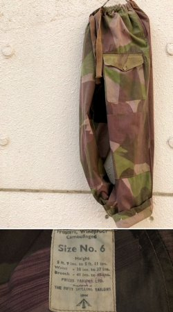 "画像1: 1944's BRITISH ARMY ( SAS ) "" BRUSH STOROKE PATTERN CAMO "" TROUSERS"