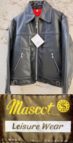 "画像1: 1970's DEAD STOCK "" Mascot (マスコット) / England "" BLACK SINGLE RIDERS JKT"