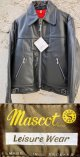 "1970's DEAD STOCK "" Mascot (マスコット) / England "" BLACK SINGLE RIDERS JKT"