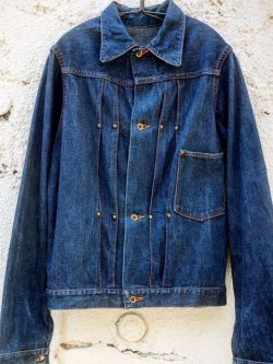 画像1: 1940's UNKNOWN DENIM JK(WWII MODEL) / NO-FLAP 1PKT 4BUTTON
