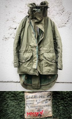 画像1: 1951's BRITISH ARMY (RAF) HEAVY WEATHER AVIATOR COAT (MIDDLE PARKA LONG) 1ST TYPE