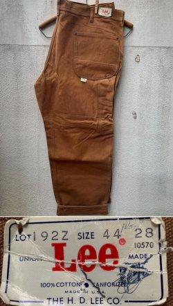 """画像1: 1970's DEAD STOCK  """" Lee """" / BROWN DUCK DOUBLE KNEE PAINTER PANTS"""