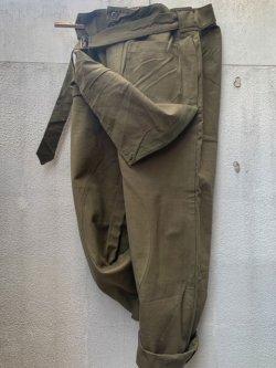 画像1: 1950's〜 DEAD STOCK / FRENCH ARMY APRON PANTS / MOTORCYCLE PANTS (2)