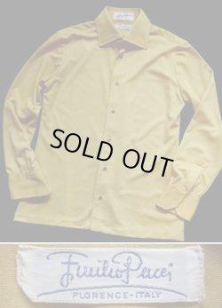 画像1: 1960〜1970's エミリオプッチ (Emilio Pucci) メンズ ドレスシャツ ライムイエロー