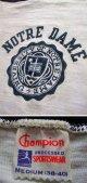 "1950's ""  チャンピオン ""  ランナーズタグ ( ランタグ ) カレッジ Tシャツ"