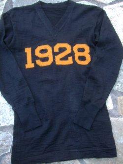 """画像1: 1920's """" スポルディング """" レタードセーター(レターマンセーター) ブラック"""