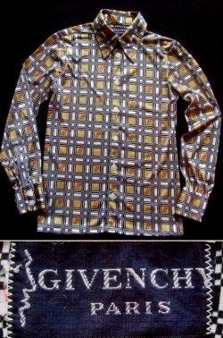 """画像1: 1970's  """" ジバンシー ( GIVENCHY ) """" メンズ L/S  シャツ デザインチェック"""